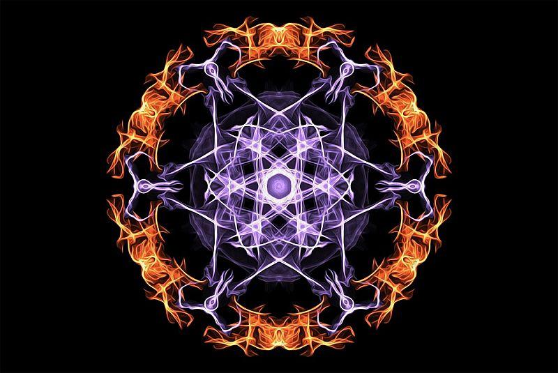 Fire Mandala Flames Magic Esoteric Mystic Blue